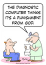 Cartoon: punishment god doctor patient (small) by rmay tagged punishment,god,doctor,patient