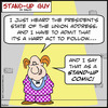 Cartoon: SUG as a stand up comic obama (small) by rmay tagged sug,as,stand,up,comic,obama