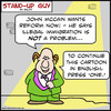 Cartoon: SUG english press one mccain (small) by rmay tagged sug,english,press,one,mccain