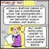 Cartoon: SUG obama osama sea (small) by rmay tagged sug,obama,osama,sea