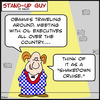Cartoon: SUG shakedown cruise obama bp (small) by rmay tagged sug,shakedown,cruise,obama,bp