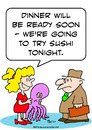 Cartoon: sushi tonight try (small) by rmay tagged sushi,tonight,try