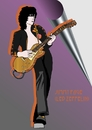 Cartoon: Jimmy Page (small) by Curt tagged jimmy,page,led,zeppelin,gitarrist,heavy,metal